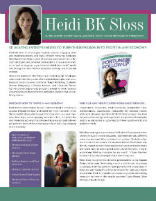 Heidi BK Sloss Speaker One Sheet